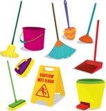 Items de la limpieza stock de ilustración