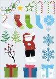 Items de la Navidad Imagen de archivo libre de regalías