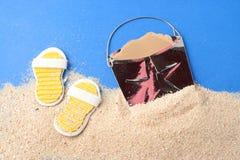 Items de la playa Foto de archivo libre de regalías