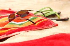 Items de la playa Imágenes de archivo libres de regalías