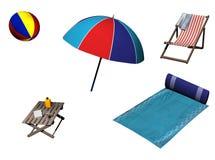 Items de la playa Imagen de archivo