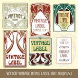 Items de la vendimia del vector Fotografía de archivo