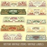 Items de la vendimia del vector Imagenes de archivo