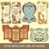 Items de la vendimia del vector Foto de archivo libre de regalías