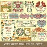 Items de la vendimia del vector Fotos de archivo libres de regalías