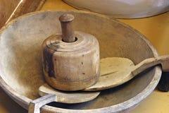 Items de madera antiguos de la cocina Foto de archivo