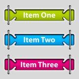 Items de menú cortados del papel en blanco Imagen de archivo libre de regalías