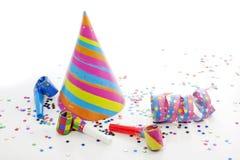 Items del Año Nuevo del cumpleaños del partido Foto de archivo libre de regalías