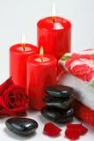 Items del balneario, masaje. Imagen de archivo