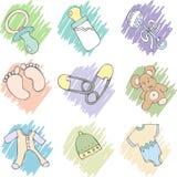 Items del bebé Imagen de archivo