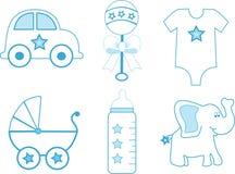 Items del bebé Foto de archivo libre de regalías