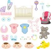 Items del bebé Fotografía de archivo