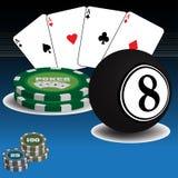 Items del casino Imagen de archivo libre de regalías