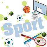 Items del deporte Imágenes de archivo libres de regalías