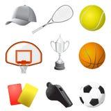 Items del deporte stock de ilustración