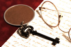 Items del escritorio imagenes de archivo