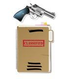 Items del espía. stock de ilustración