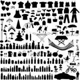 Items del hogar del vector fijados Imagenes de archivo