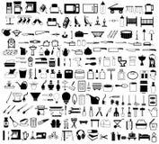 Items del hogar fijados Imagen de archivo libre de regalías