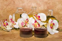 Items del masaje de Bodycare Imágenes de archivo libres de regalías