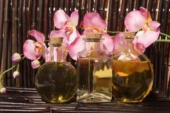 Items del masaje de Bodycare Imagen de archivo libre de regalías