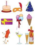 Items del partido Imagen de archivo libre de regalías