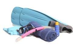 Items del tubo respirador Fotografía de archivo