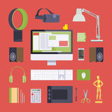 Items from the digital artist workplace Stock Image