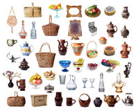 Items dish. On a white background Royalty Free Stock Photography