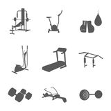 Items for the gym Royalty Free Stock Photos