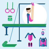 Items for gymnastics. Royalty Free Stock Photo