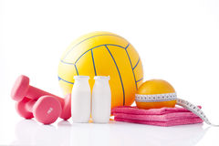 Items for healthy physical activity Stock Photography