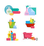 Items for the house cleaning. Stock Image