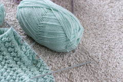 Items for knitting with a spokes close-up in different angles. Stock Image