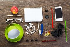 Items laid on the table, still life Royalty Free Stock Photos