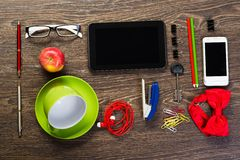 Items laid on the table, still life Stock Photo