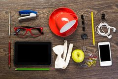 Items laid on the table, still life Stock Photography