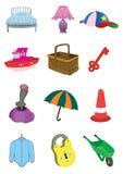 Items lindos de los niños en vector Fotografía de archivo