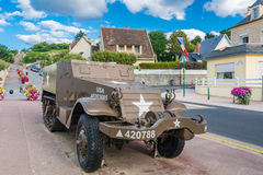 Items of the Museum of D-Day in Arromanches-les-bains in Normand Stock Photos