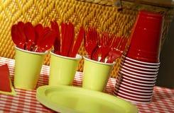 Items para la comida campestre Fotografía de archivo
