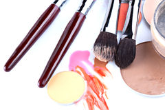 Items for professional make-up application Stock Photo