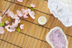 Items for relaxing. Spa items ready for relaxation Stock Image