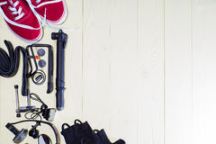 Items replacements and tools for a safe cycling Royalty Free Stock Photography