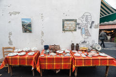 Items for sale at the St-Ouen flea market in Paris Royalty Free Stock Image