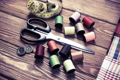 Items for sewing or DIY Stock Image