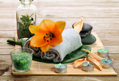 Items for  spa Stock Image