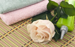 Items for spa procedures. Stock Photos