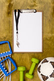 Items for the sports coach Royalty Free Stock Photos