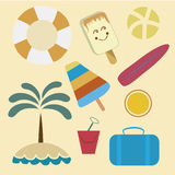 Items for summer vacations Royalty Free Stock Photo