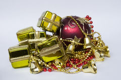 Items to decorate the Christmas tree Royalty Free Stock Photography